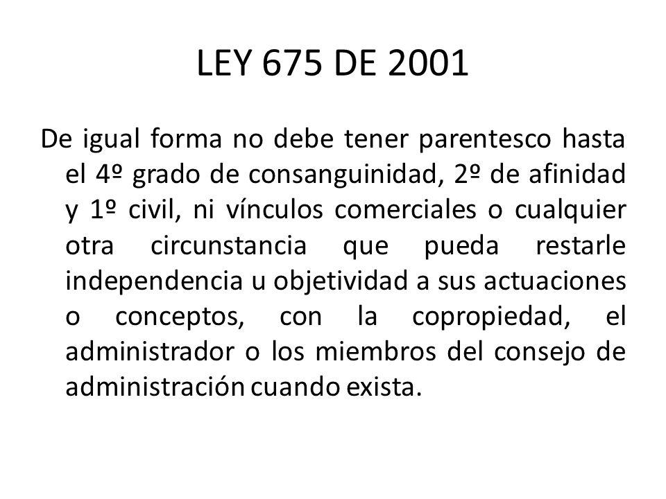 LEY 675 DE 2001