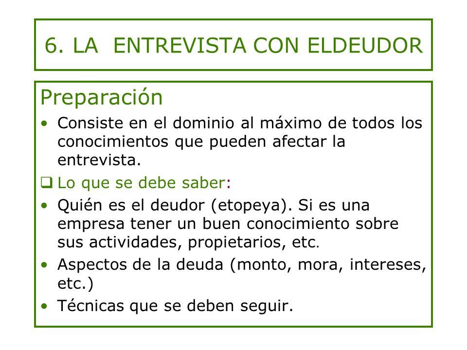 6. LA ENTREVISTA CON ELDEUDOR