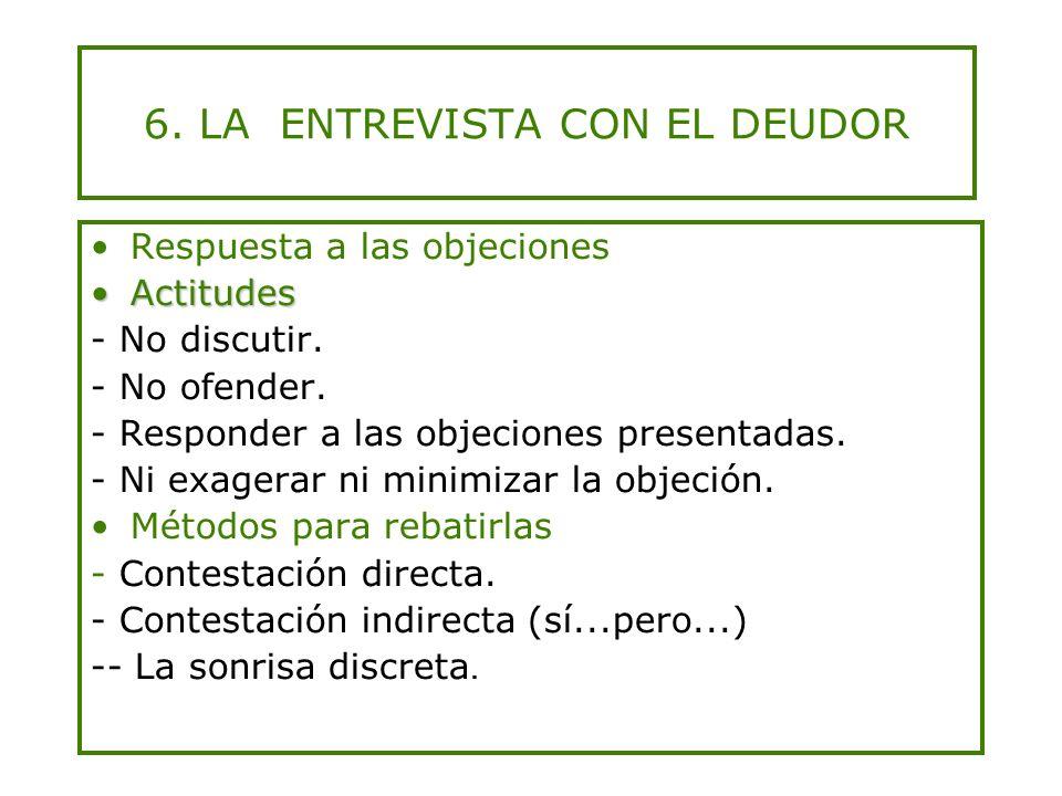 6. LA ENTREVISTA CON EL DEUDOR