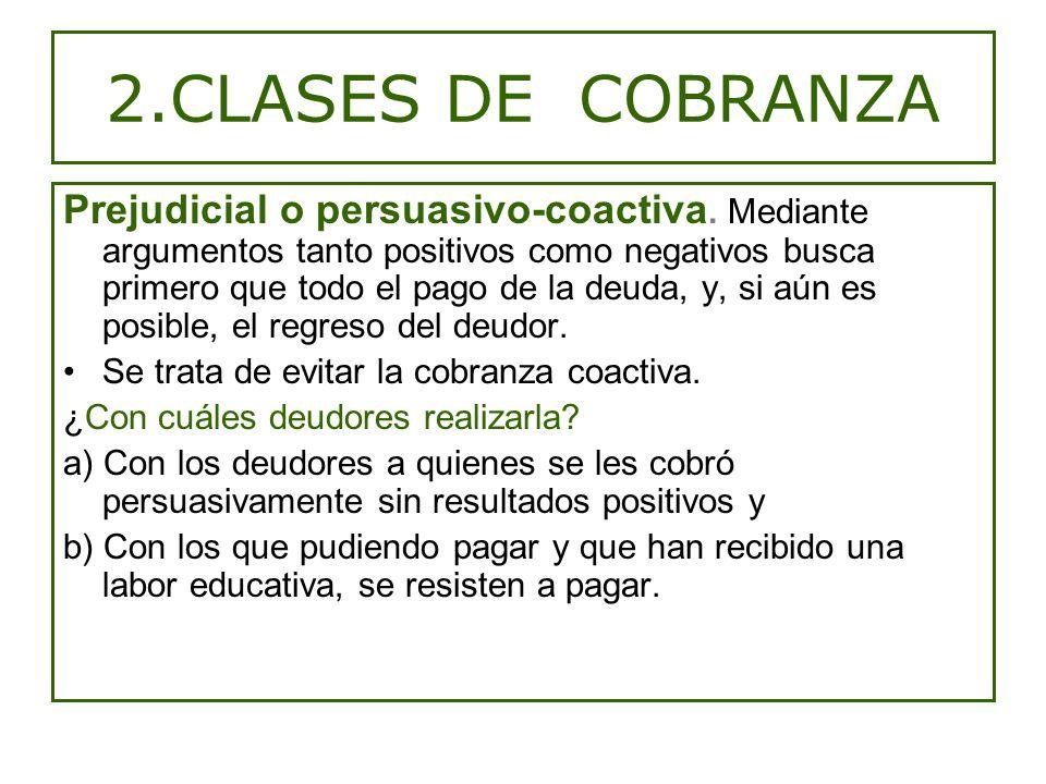 2.CLASES DE COBRANZA