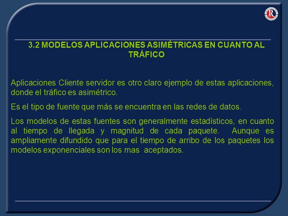 3.2 MODELOS APLICACIONES ASIMÉTRICAS EN CUANTO AL TRÁFICO