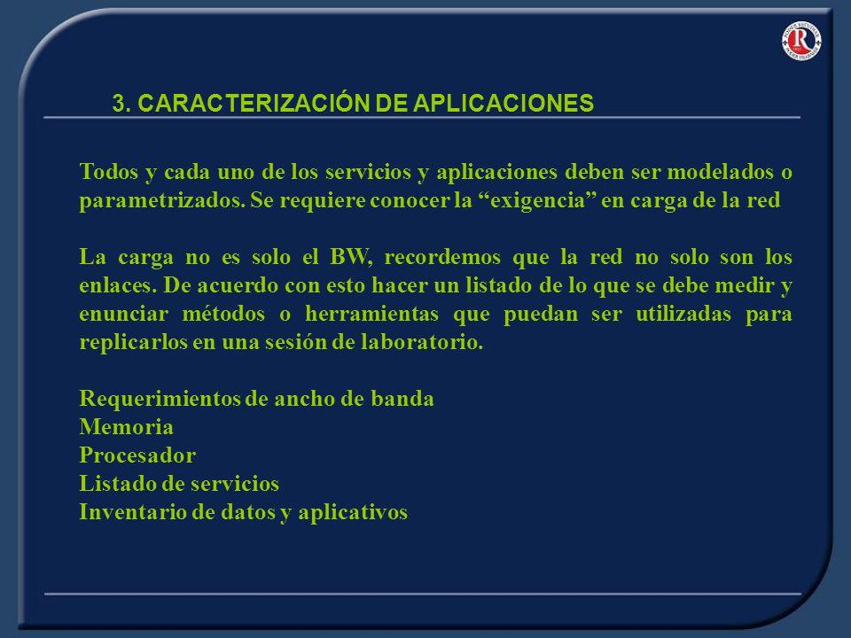 3. CARACTERIZACIÓN DE APLICACIONES