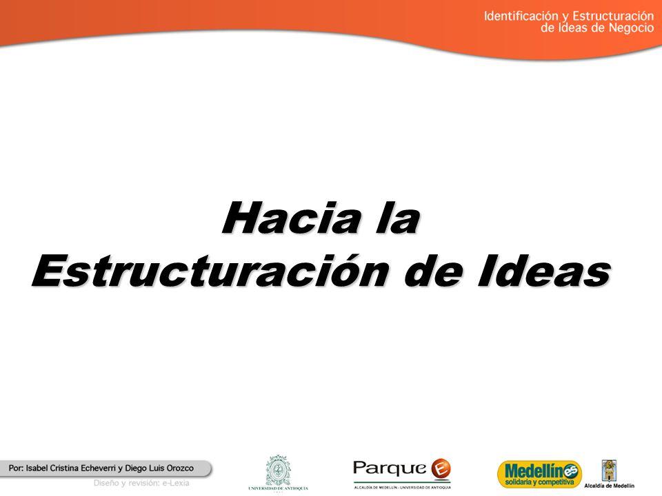Hacia la Estructuración de Ideas