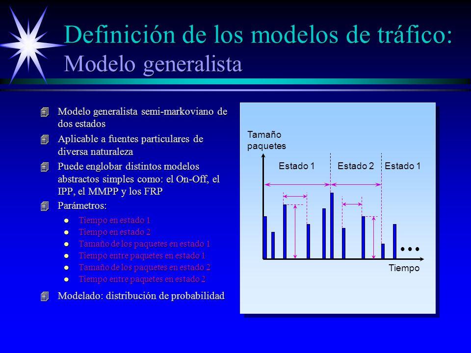 Definición de los modelos de tráfico: Modelo generalista
