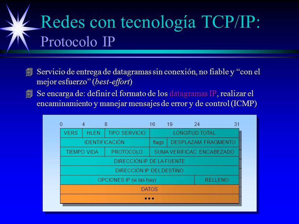Redes con tecnología TCP/IP: Protocolo IP