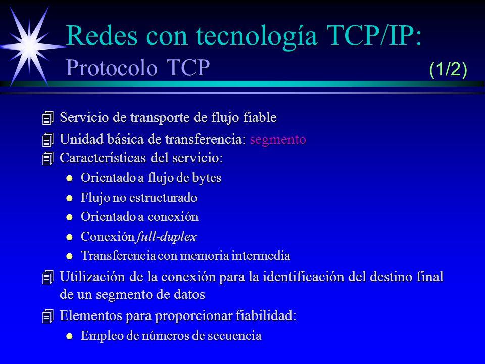Redes con tecnología TCP/IP: Protocolo TCP (1/2)