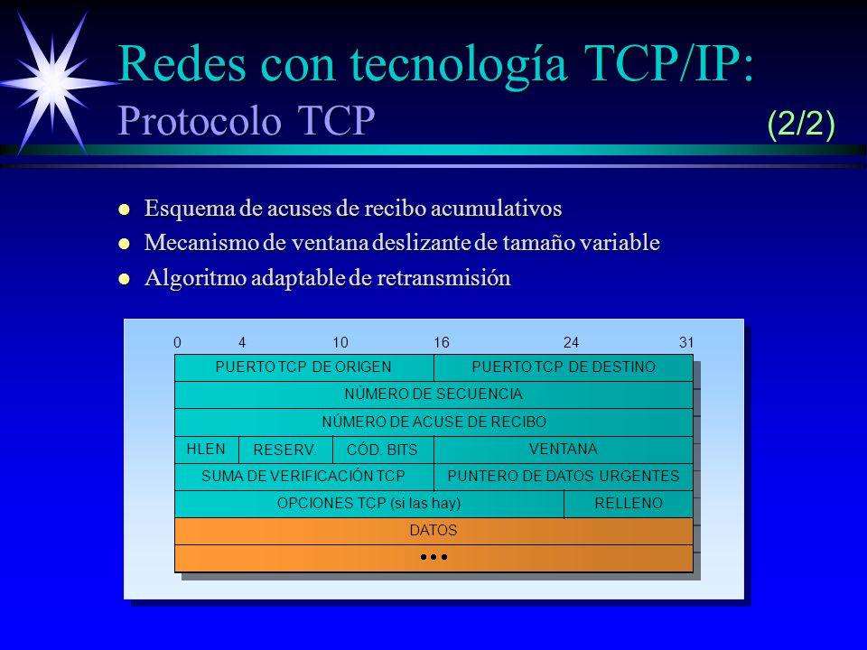 Redes con tecnología TCP/IP: Protocolo TCP (2/2)