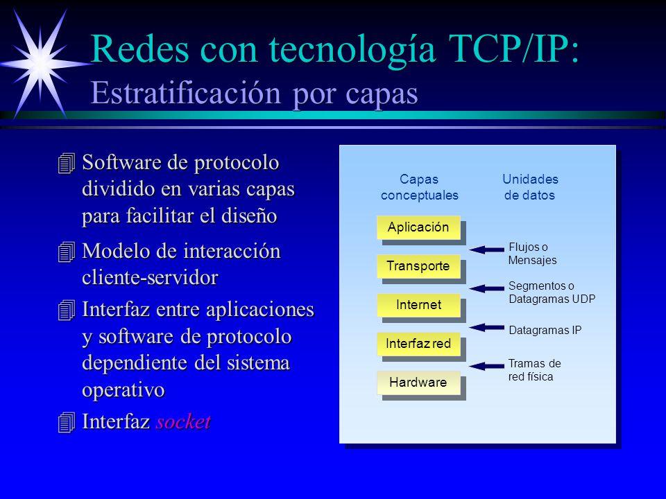 Redes con tecnología TCP/IP: Estratificación por capas