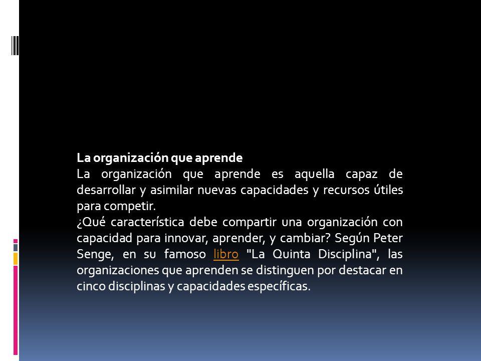 La organización que aprende