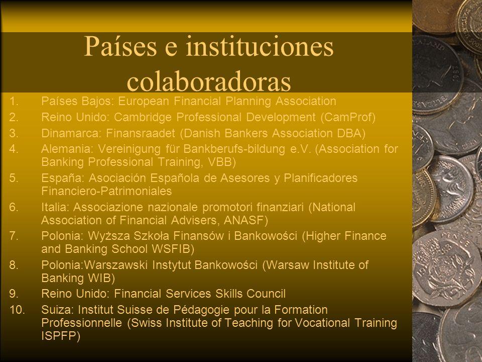 Países e instituciones colaboradoras