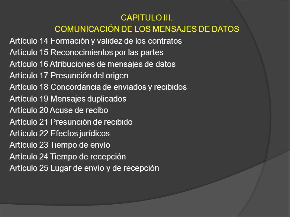 CAPITULO III.