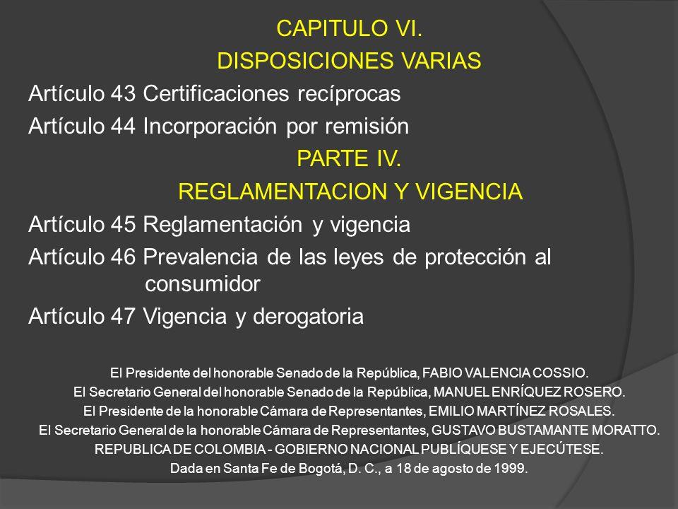 Artículo 43 Certificaciones recíprocas