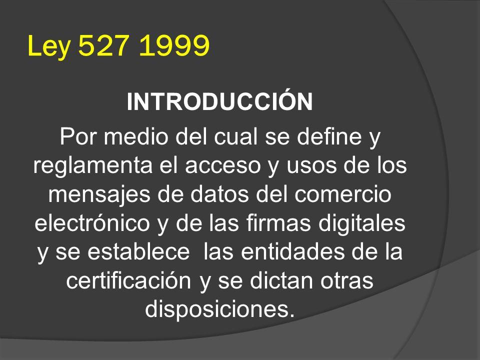 Ley 527 1999