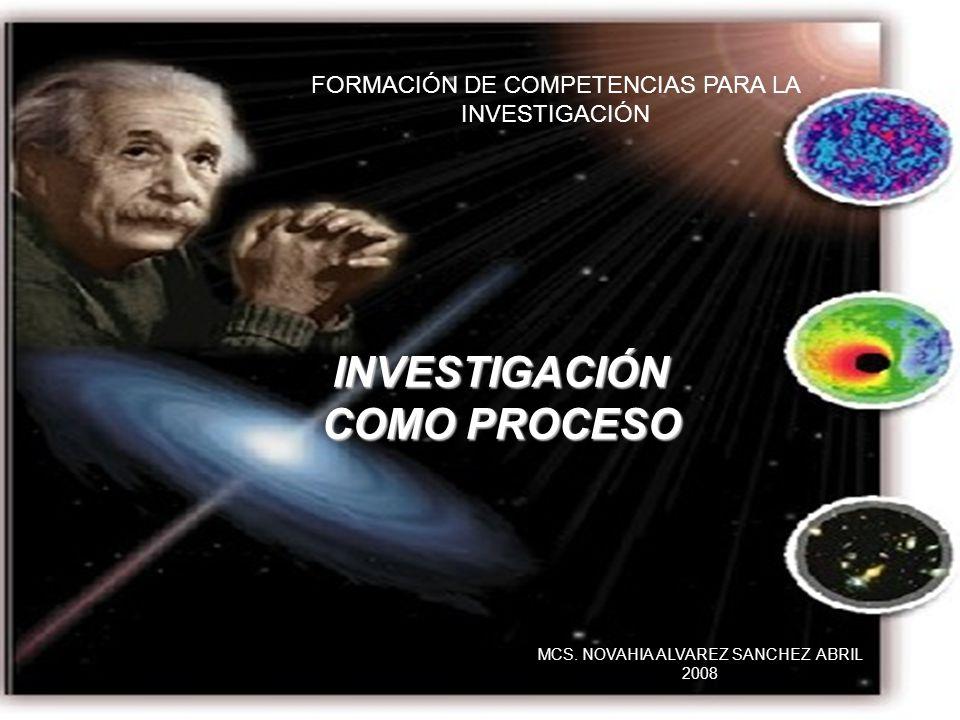 INVESTIGACIÓN COMO PROCESO