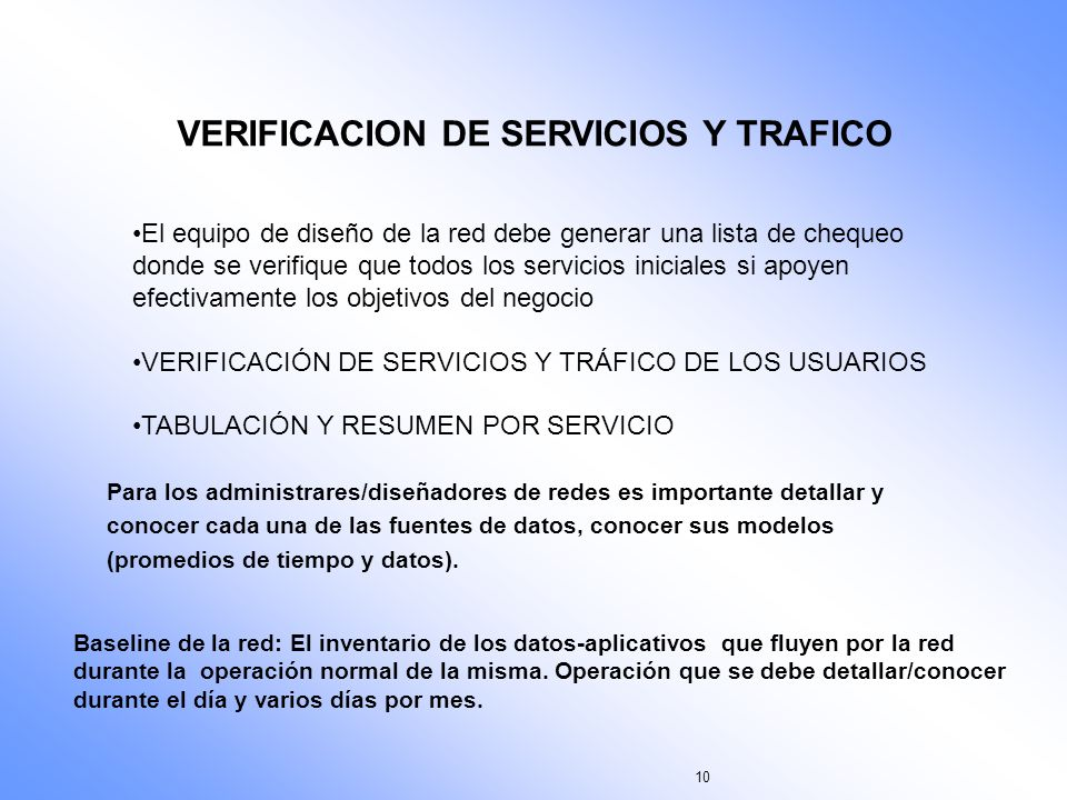 VERIFICACION DE SERVICIOS Y TRAFICO