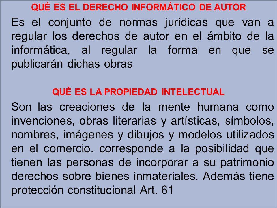 QUÉ ES EL DERECHO INFORMÁTICO DE AUTOR