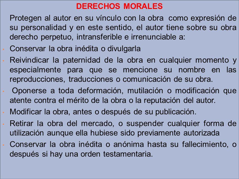 DERECHOS MORALES