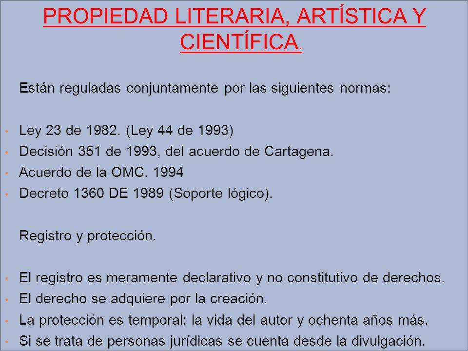 PROPIEDAD LITERARIA, ARTÍSTICA Y CIENTÍFICA.