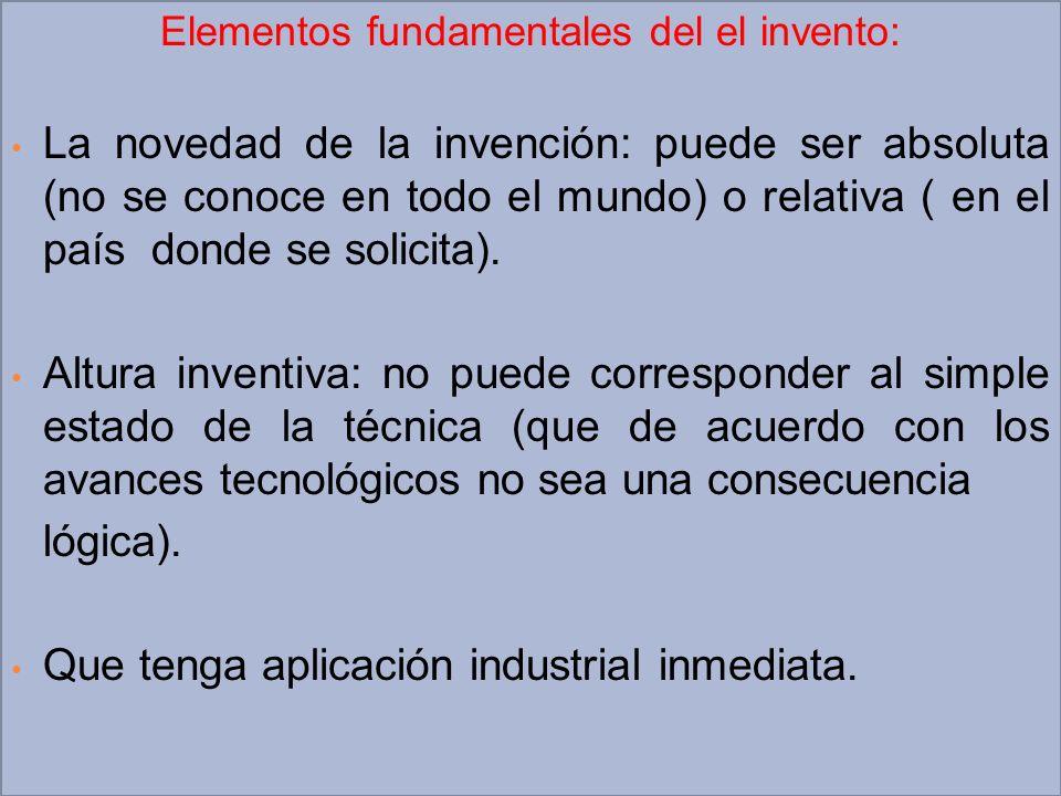 Elementos fundamentales del el invento: