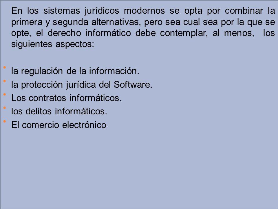 la regulación de la información. la protección jurídica del Software.