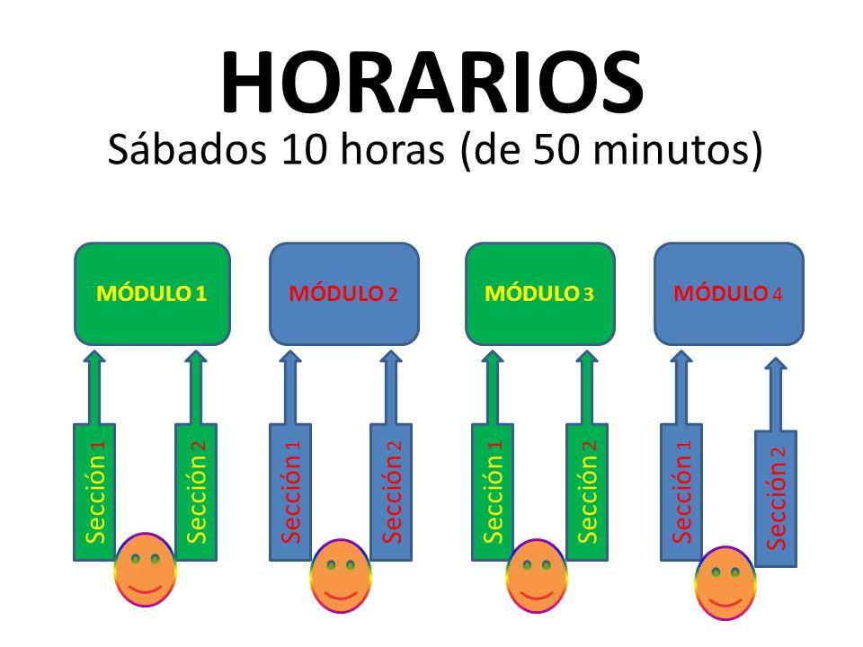 Sábados 10 horas (de 50 minutos)