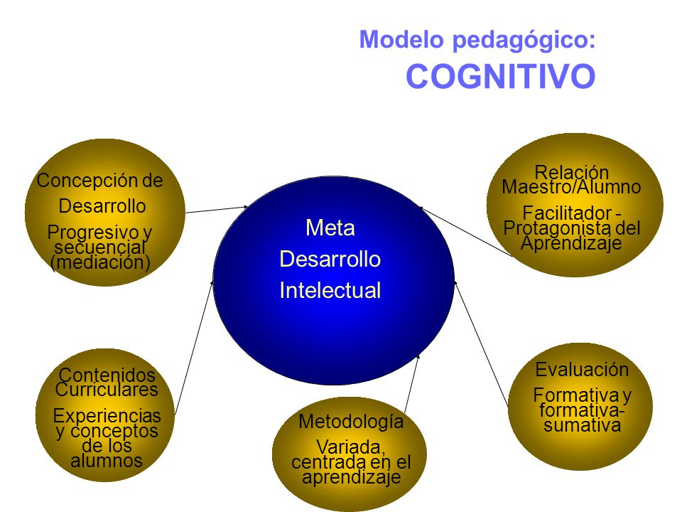 Modelo pedagógico: COGNITIVO