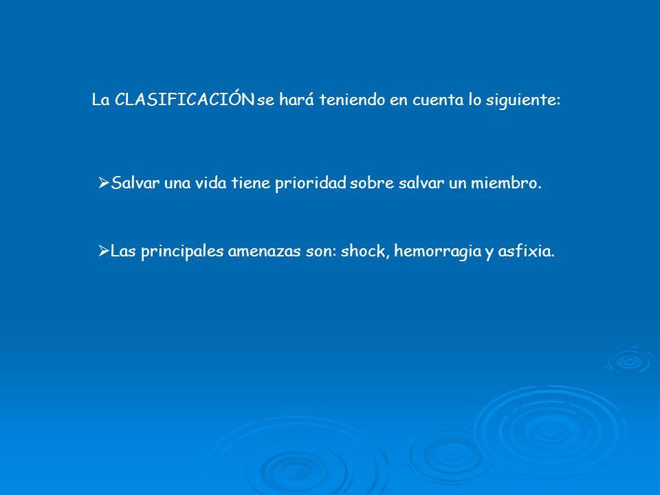 La CLASIFICACIÓN se hará teniendo en cuenta lo siguiente: