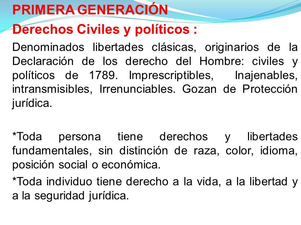 Derechos Civiles y políticos :