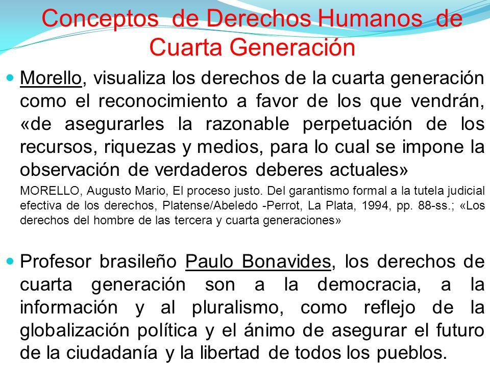 Conceptos de Derechos Humanos de Cuarta Generación
