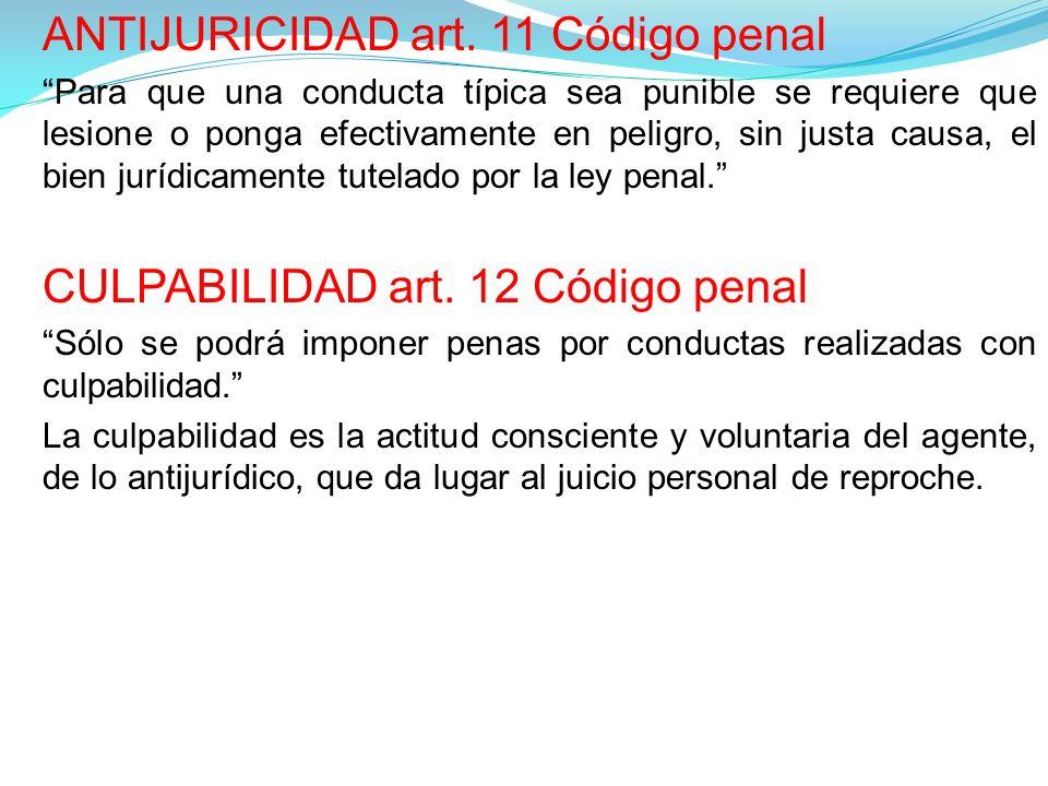 ANTIJURICIDAD art. 11 Código penal