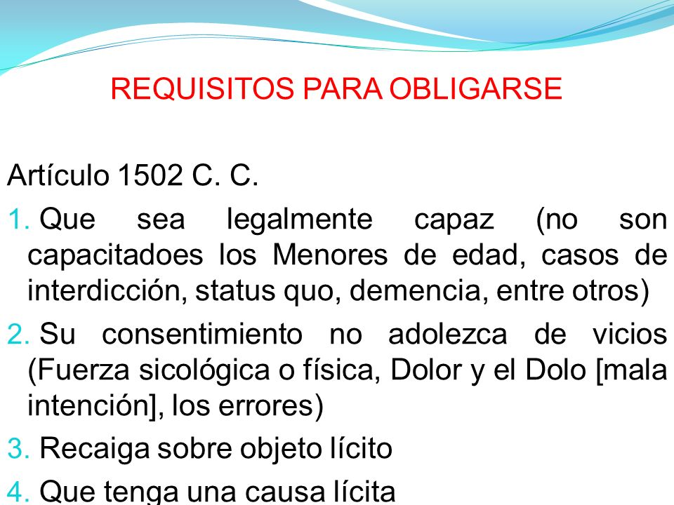 REQUISITOS PARA OBLIGARSE