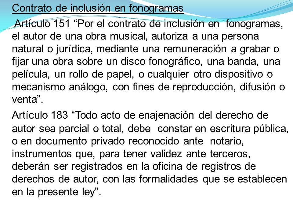 Contrato de inclusión en fonogramas