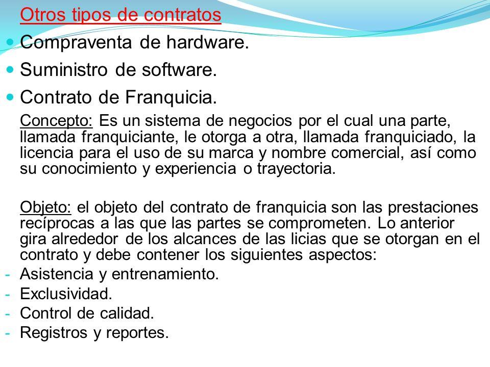 Compraventa de hardware. Suministro de software.