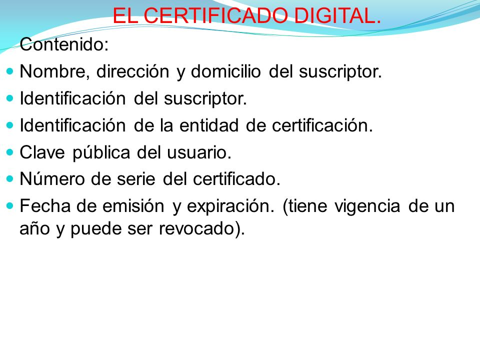 EL CERTIFICADO DIGITAL.