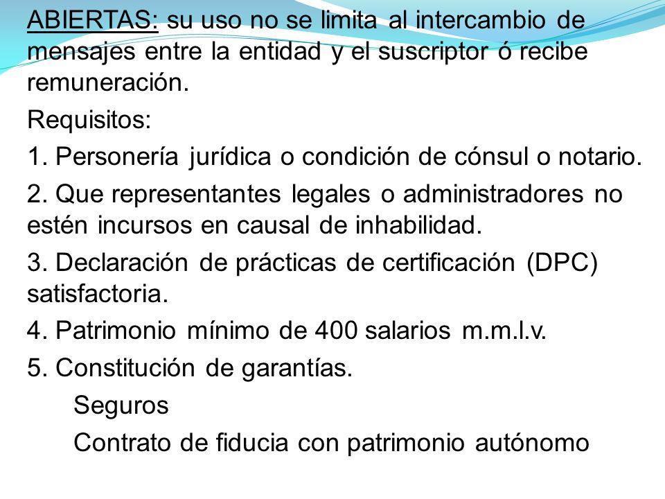 1. Personería jurídica o condición de cónsul o notario.