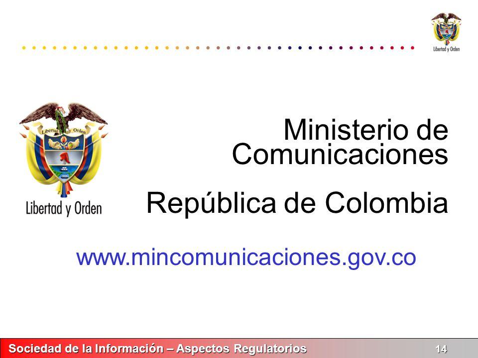 Ministerio de Comunicaciones República de Colombia