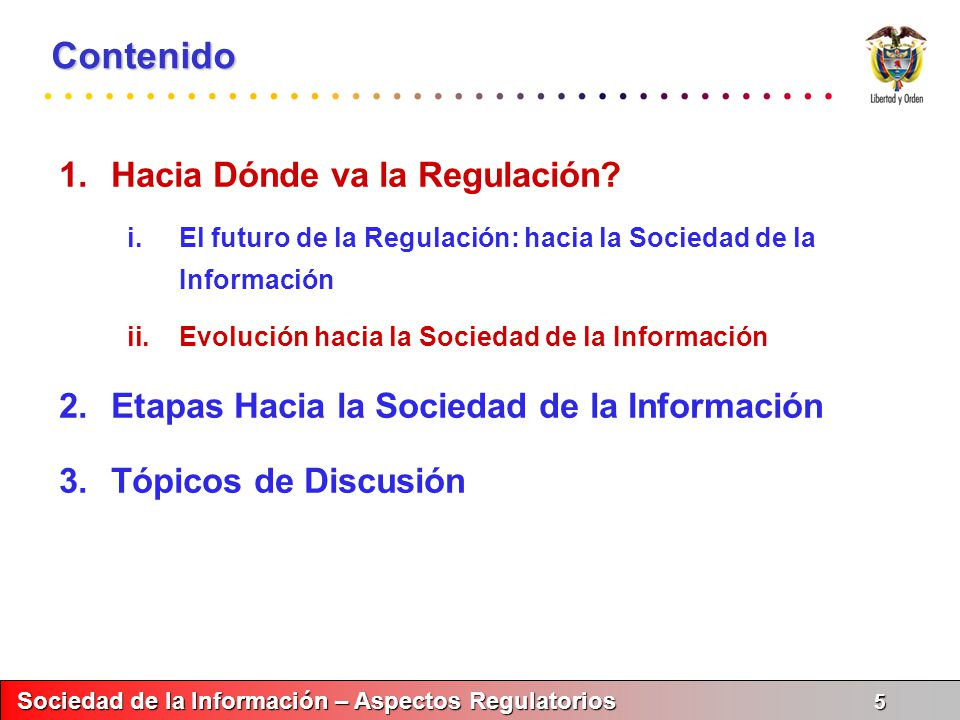 Contenido Hacia Dónde va la Regulación