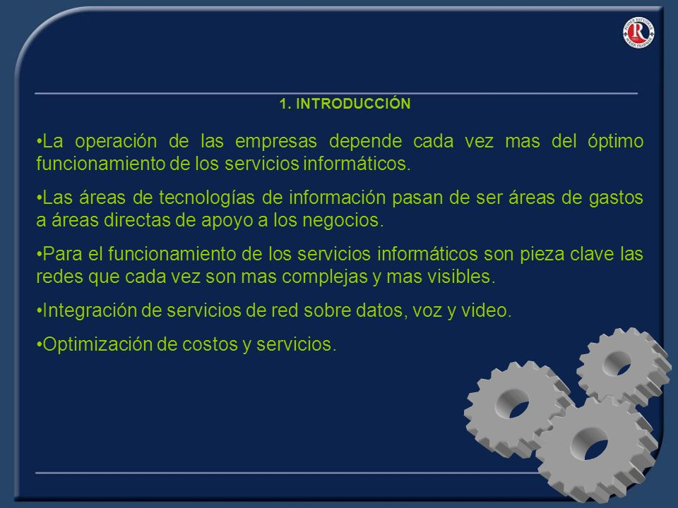 Integración de servicios de red sobre datos, voz y video.