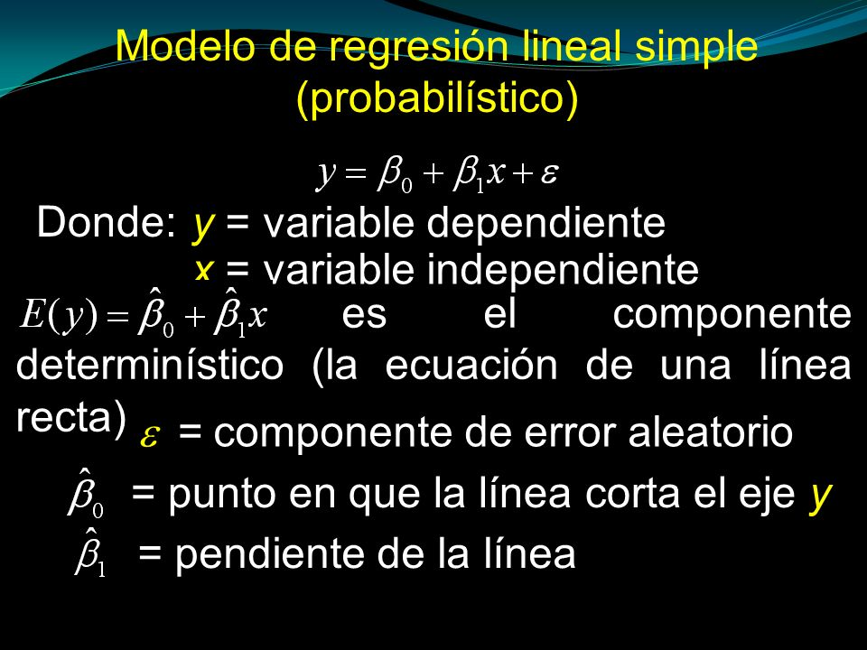 Modelo de regresión lineal simple (probabilístico)