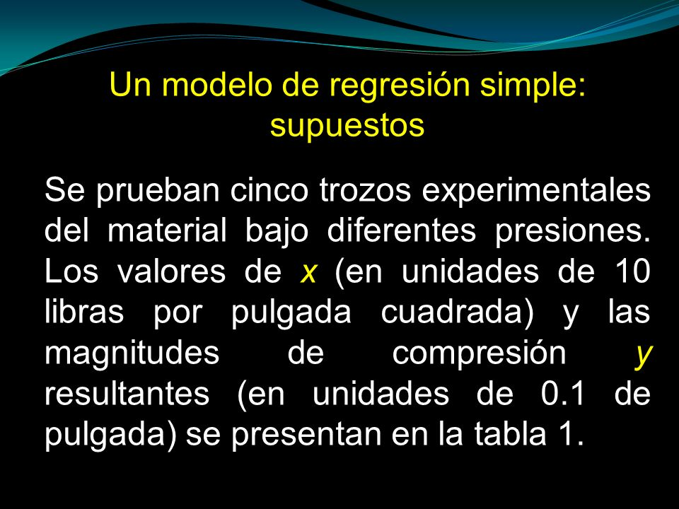 Un modelo de regresión simple: supuestos