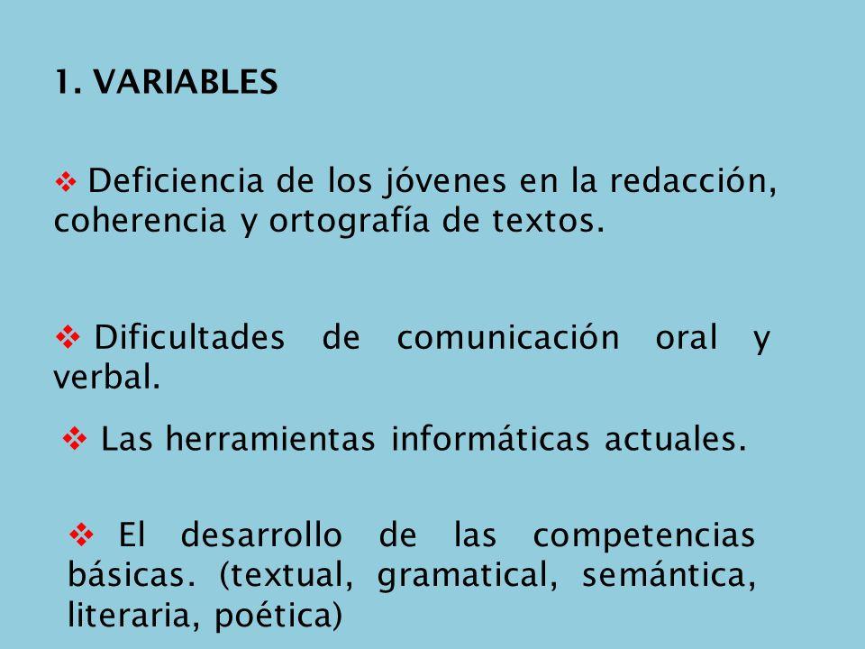 Dificultades de comunicación oral y verbal.