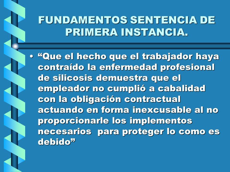 FUNDAMENTOS SENTENCIA DE PRIMERA INSTANCIA.
