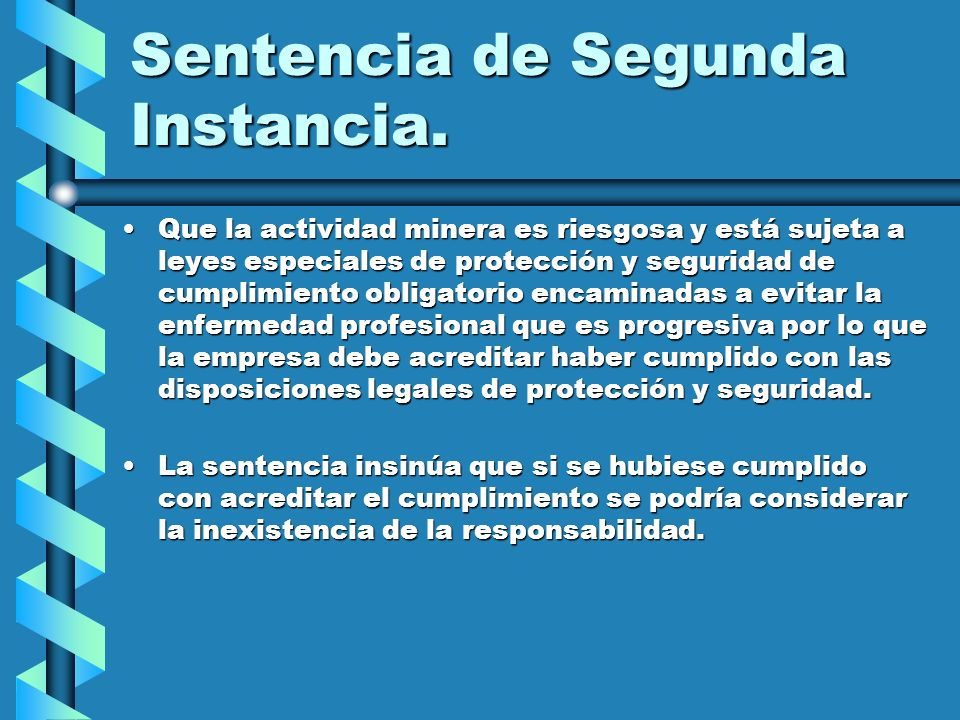 Sentencia de Segunda Instancia.