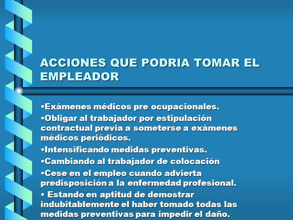 ACCIONES QUE PODRIA TOMAR EL EMPLEADOR