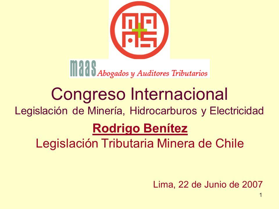 Legislación Tributaria Minera de Chile