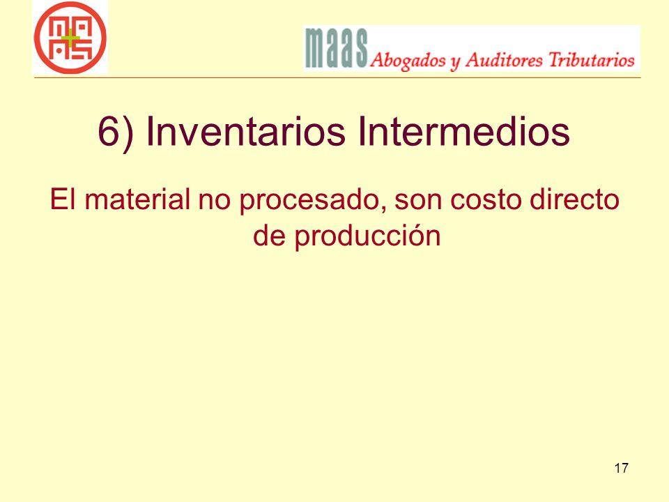 6) Inventarios Intermedios