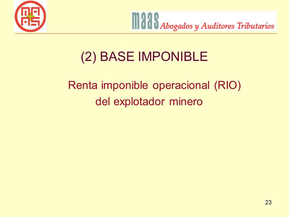Renta imponible operacional (RIO)