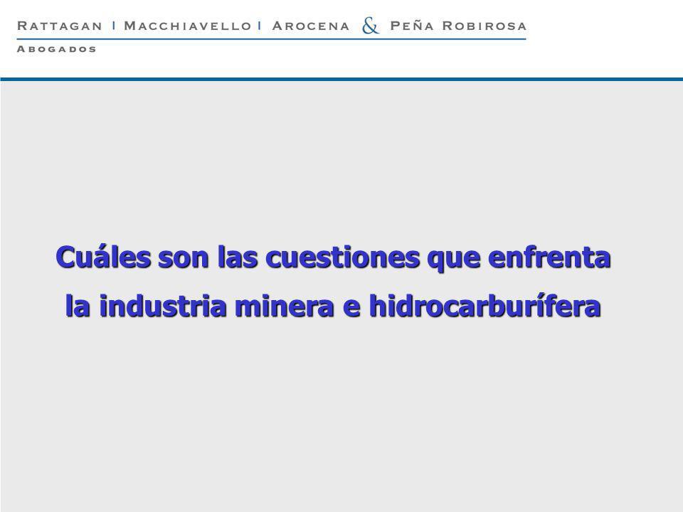 Cuáles son las cuestiones que enfrenta la industria minera e hidrocarburífera
