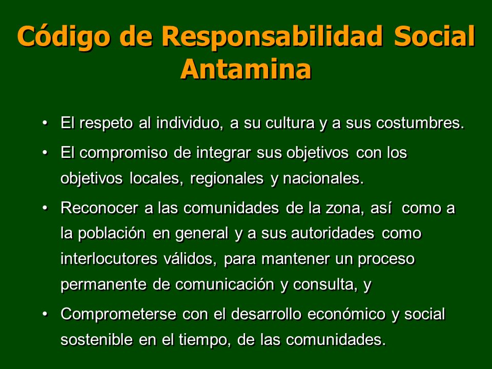 Código de Responsabilidad Social Antamina