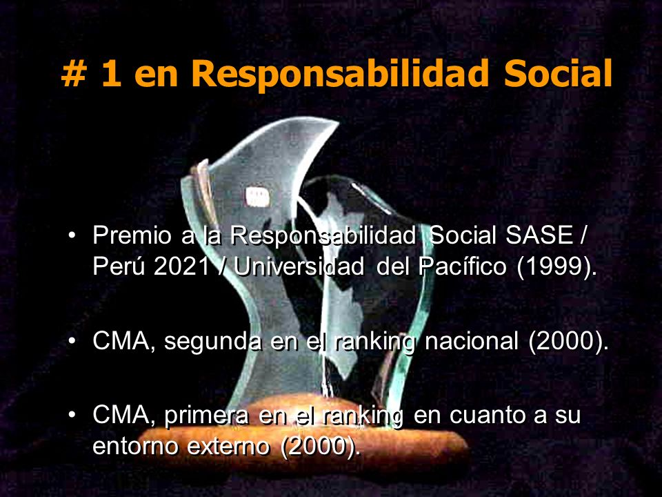 # 1 en Responsabilidad Social